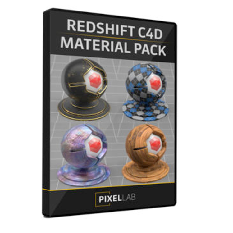 The Pixel Lab Redshift Material Pack for C4D