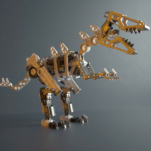 renderking hard surfaces t-rex