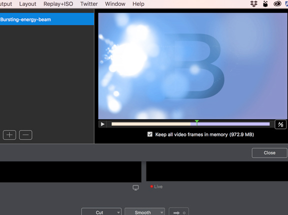 telestream wirecast  stinger transitions