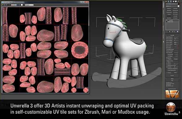unwrella uv tile creation