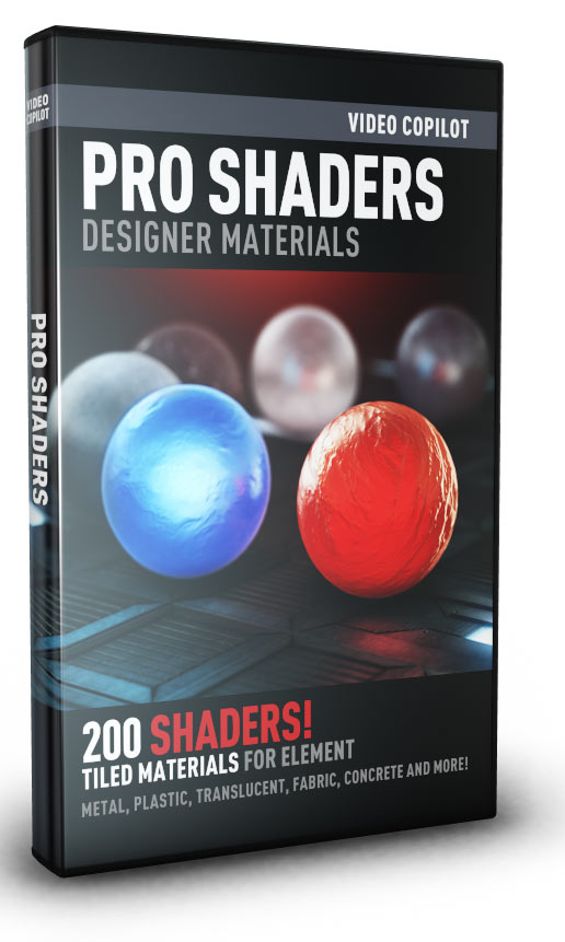 Video Copilot Pro Shaders for Element 3D and CINEMA 4D