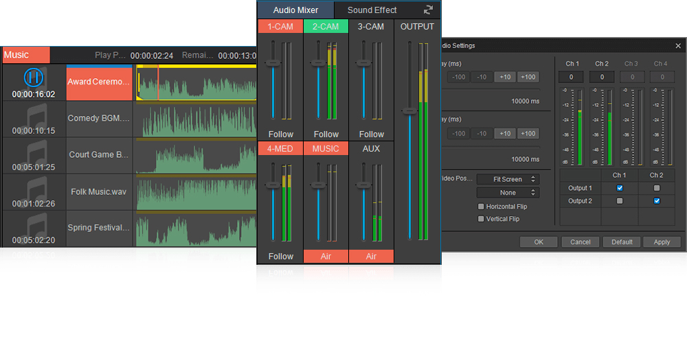 visdom vislive audio management