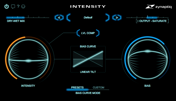 zynaptiq intensity interface