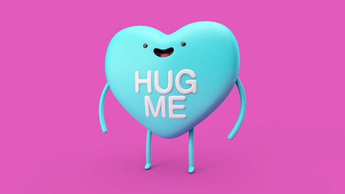 Cartoon Heart Character Modeling, Rigging, and Texturing