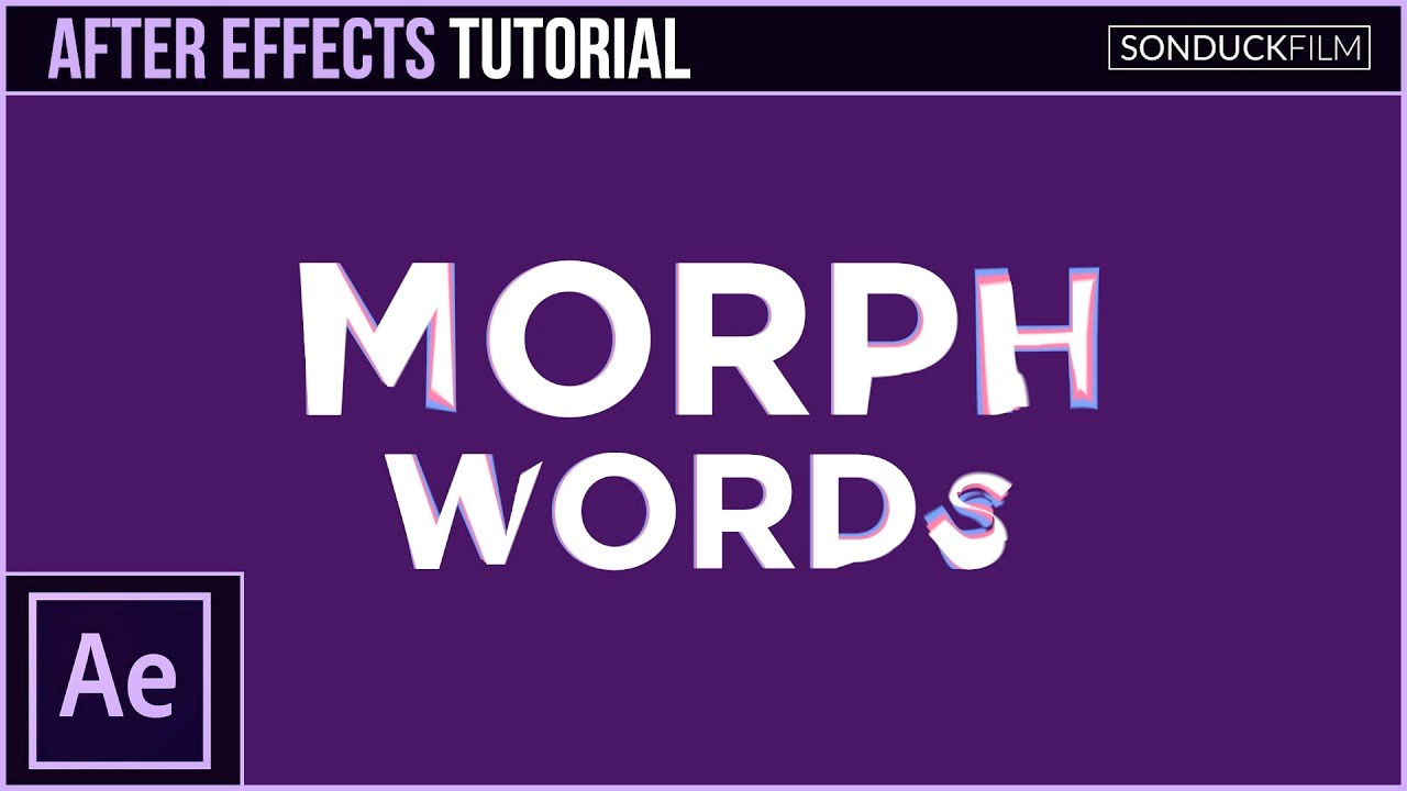 After Effects: Word Morph