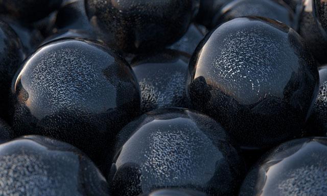 c4d black sphere textures