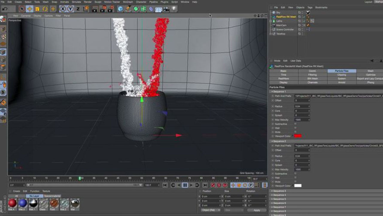 RealFlow and Cinema 4D Workflows