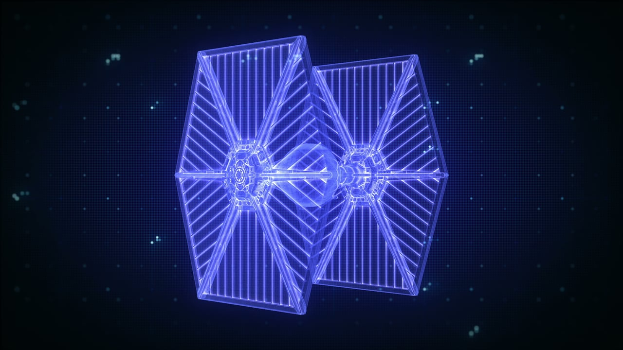 X-Wing Hologram using Cinema 4D and After Effects