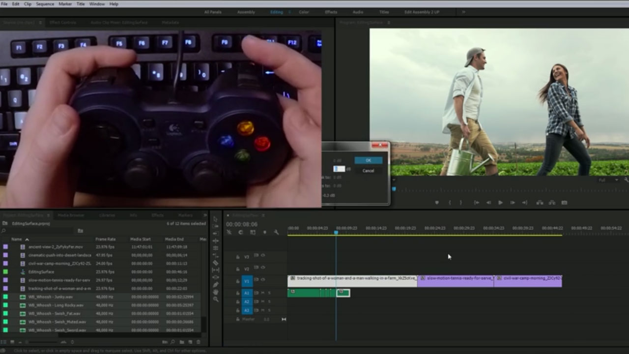 Premiere Pro: Edit Using a Video Game Controller
