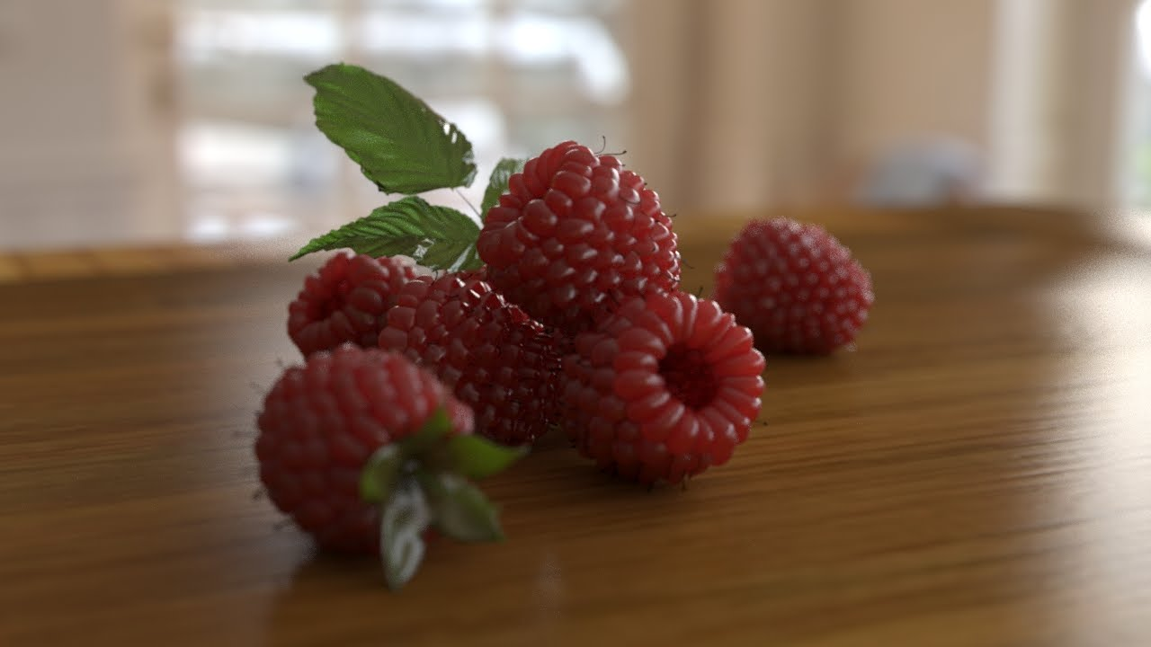 Raspberries with Subsurface Scattering - 3DsMax & IRAY