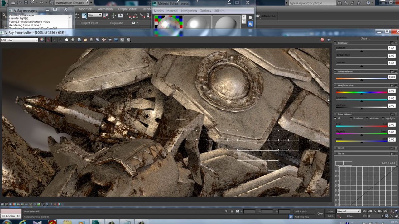 Creating rusty metal with V-Ray 3.3