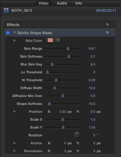 CoreMelt SliceX with Mocha for FCPX UI