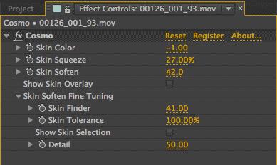 Effect controls