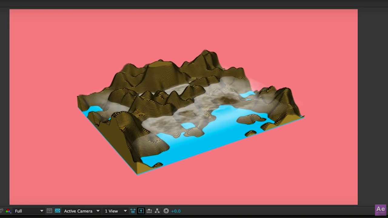 AE: Creating 3D topographic maps
