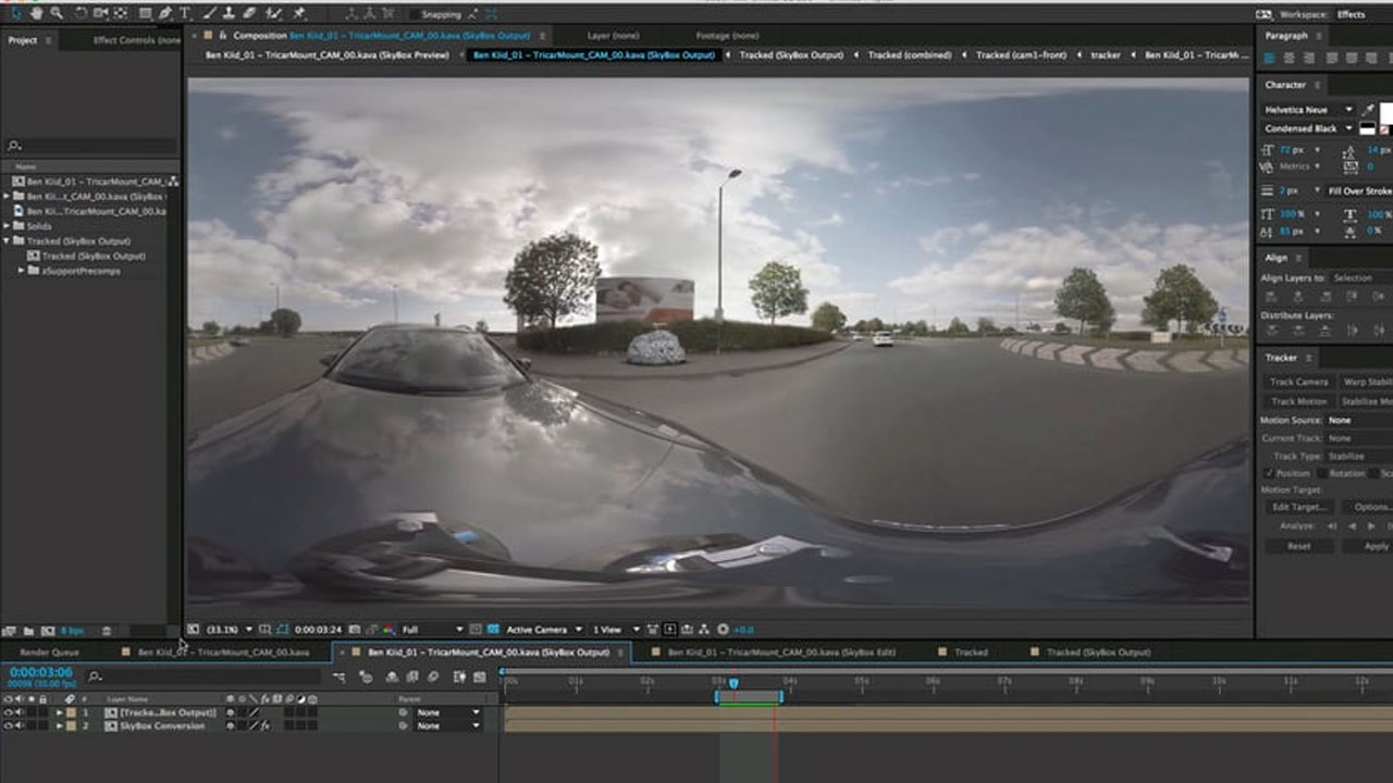 3D Camera Tracking 360 footage in After Effects