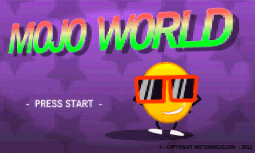 Retro 8-Bit Video Game Title Screen