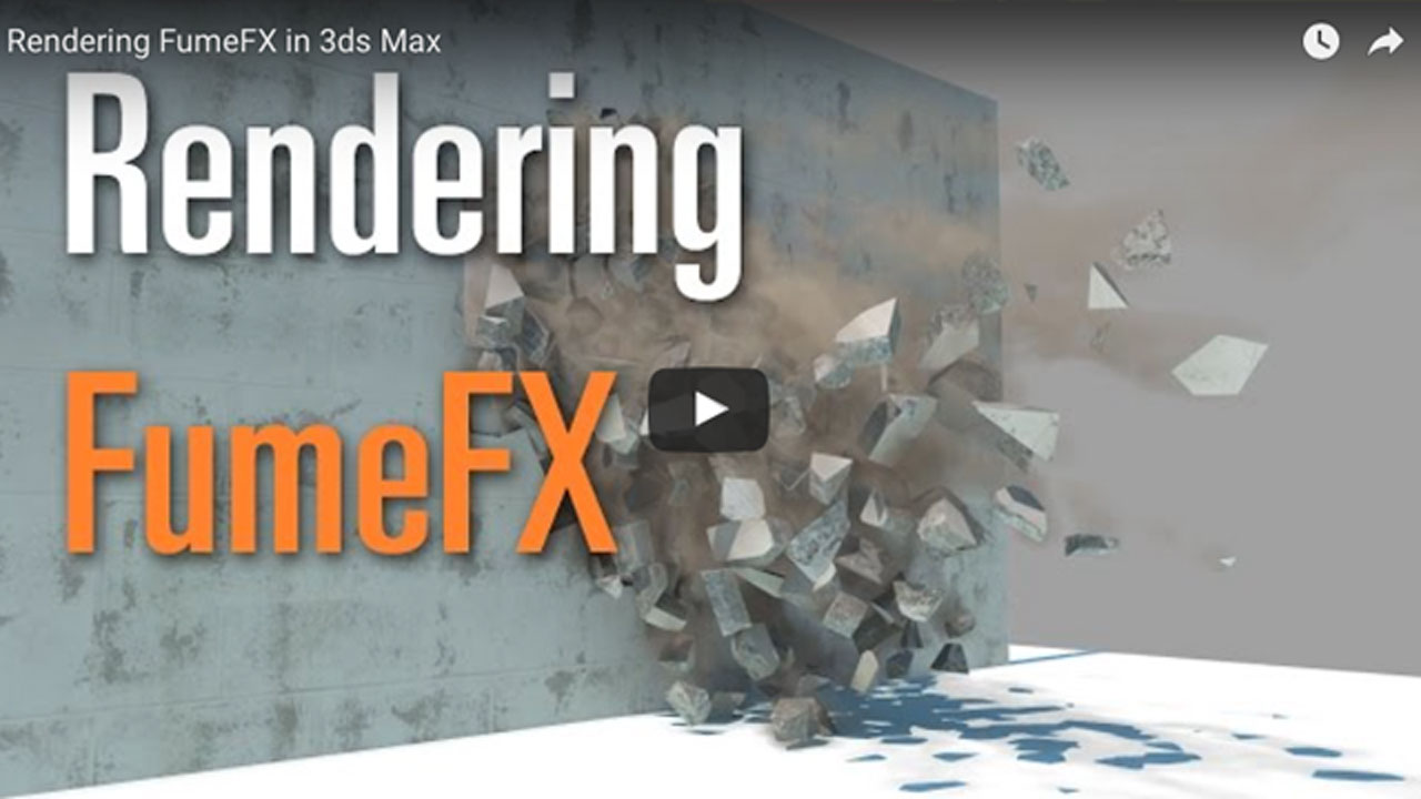 Rendering FumeFX in 3ds Max