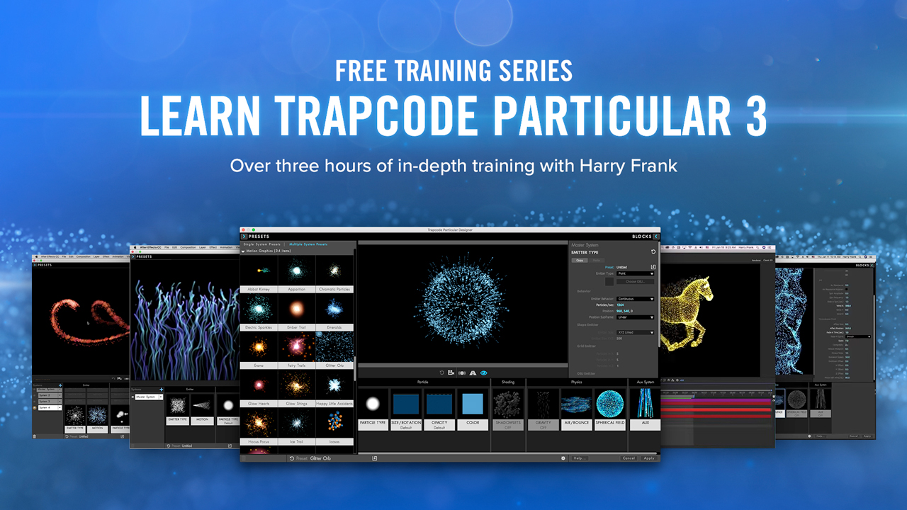 Trapcode Particular 3 - Free Training Series