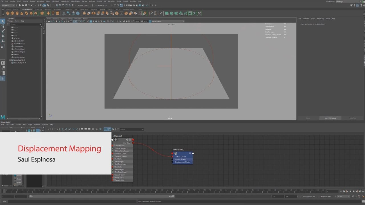 How to Work With Displacements in Redshift Maya