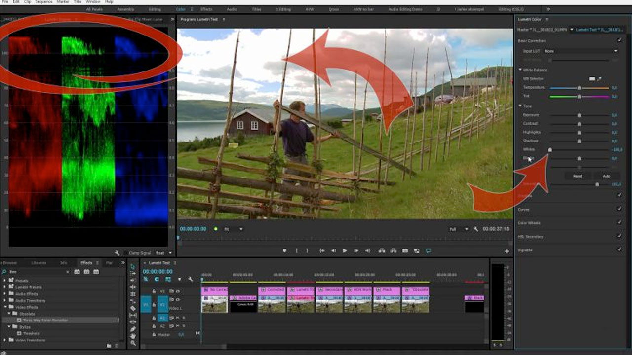 Adobe Premiere Pro: Limitations in the Lumetri Color Panel
