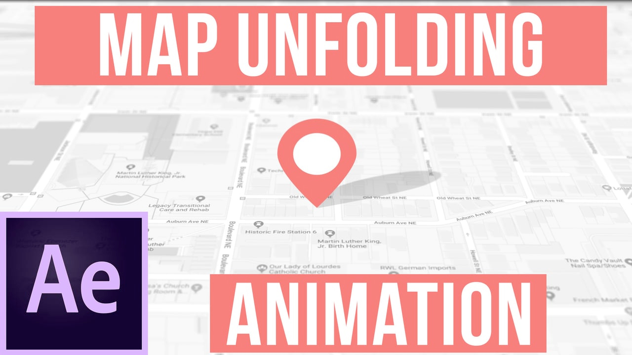 After Effects: Create an Unfolding Map