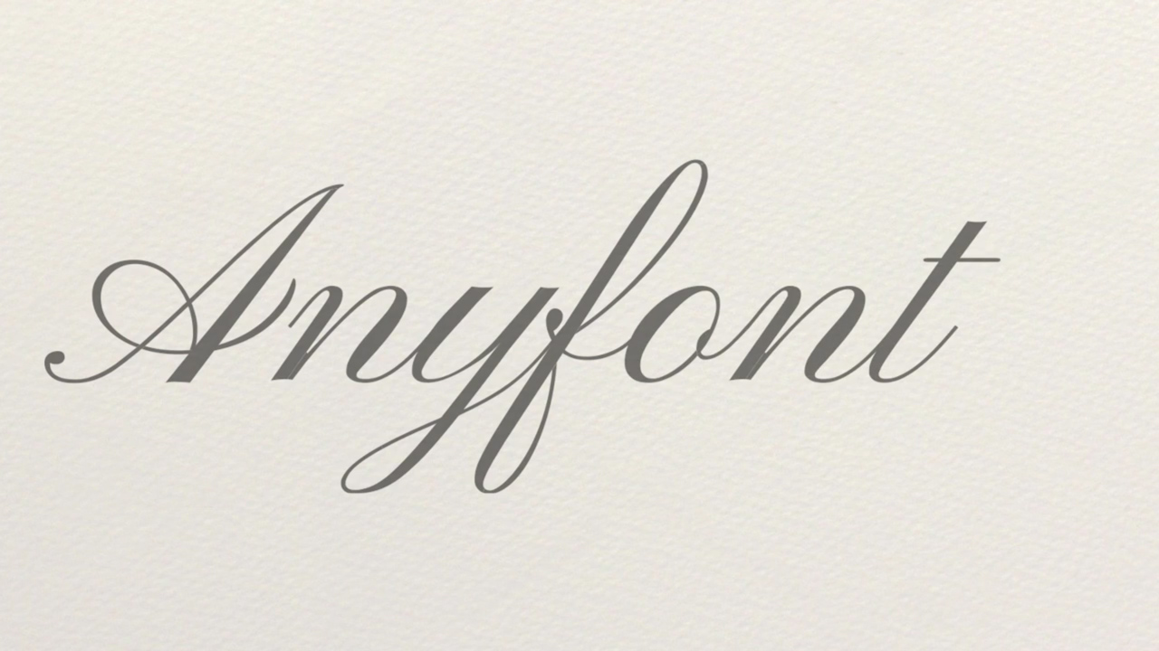Anyfont 2D Animated Handwriting Script Tutorial
