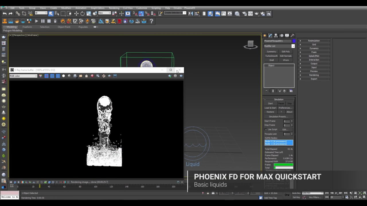 Chaos Group Phoenix FD for 3ds Max – Quick Start: Basic Liquids #gettingstarted