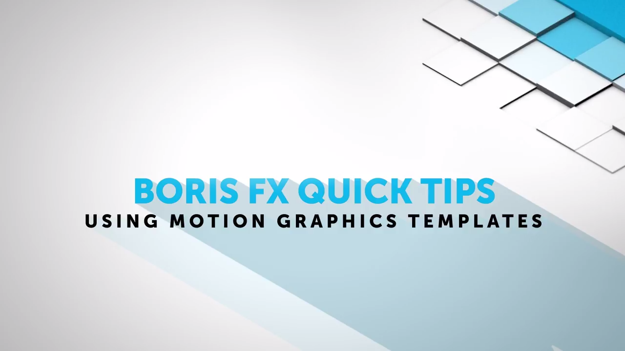 Using Motion Graphics Templates in Adobe After Effects and Premiere Pro CC 2017
