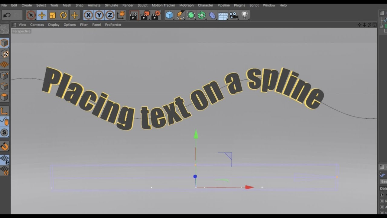 Placing Text on a Spline in Cinema 4D