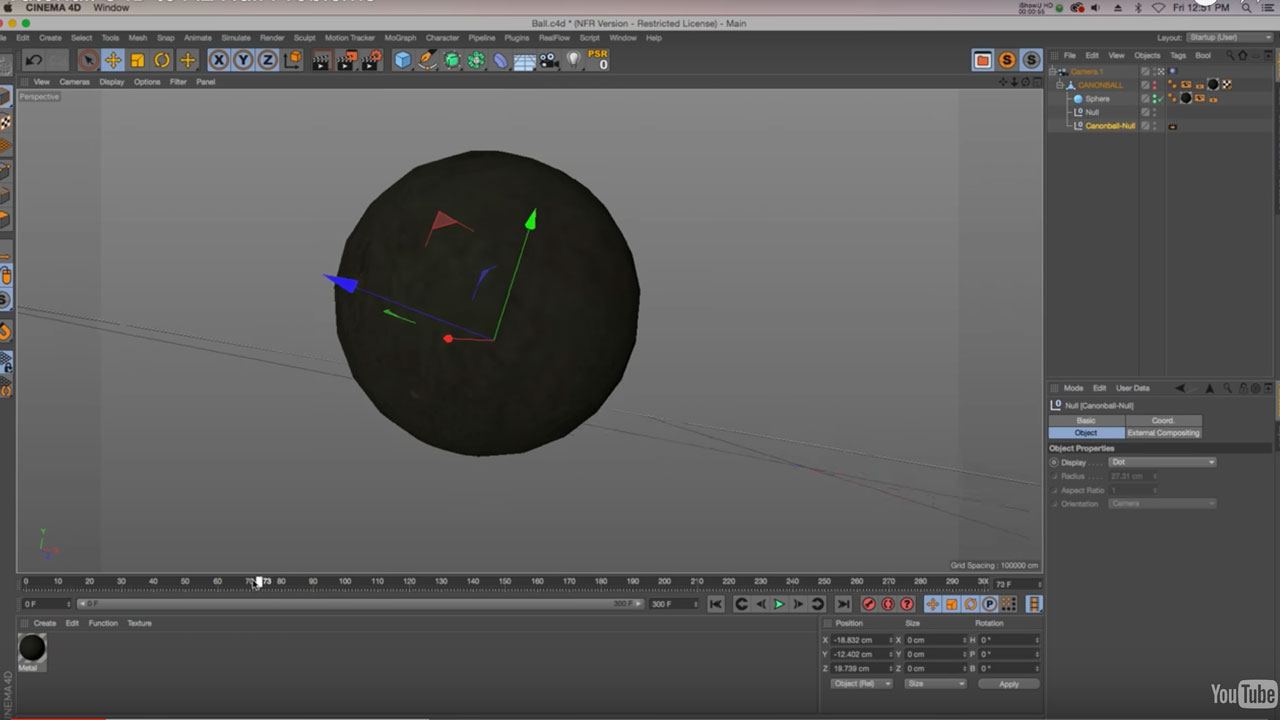 Cinema 4D to After Effects: Working with Nulls
