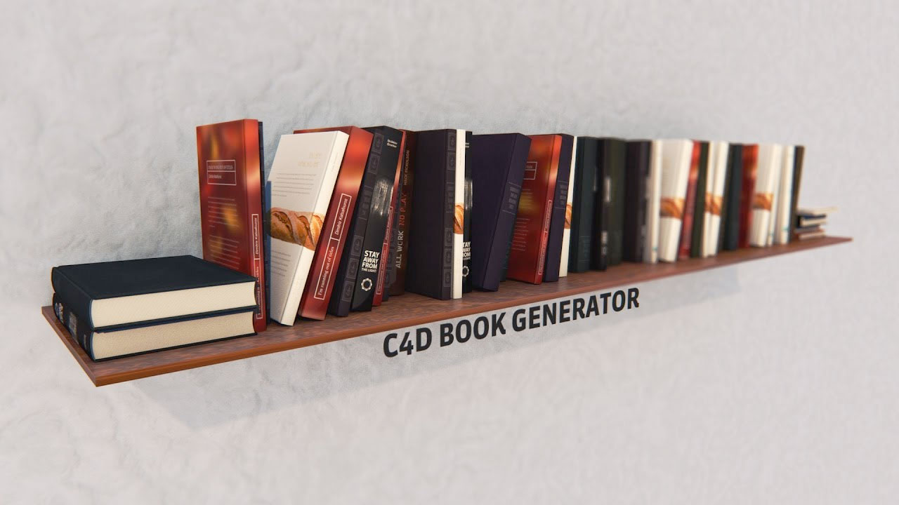 Cinema 4D: Free Book Generator Tutorial