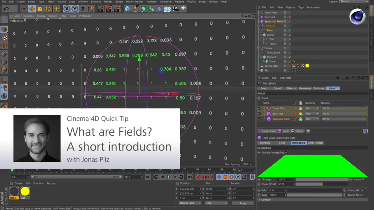 Cinema 4D R20: Falloffs vs. Fields - What They Are and How They Work