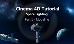 Creating and Lighting a Space Scene, Part One - Modeling