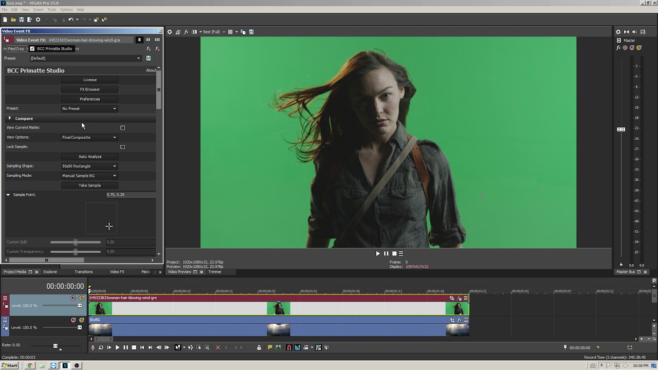 Chroma keying, Masking, and More Using Vegas Pro and Continuum