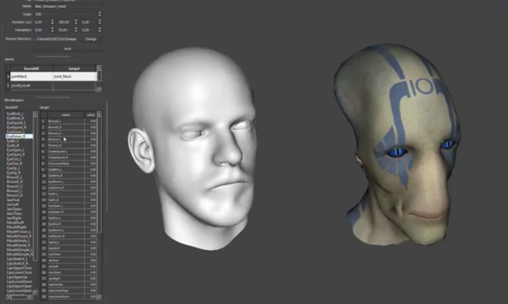 Lightwave to Faceshift and back