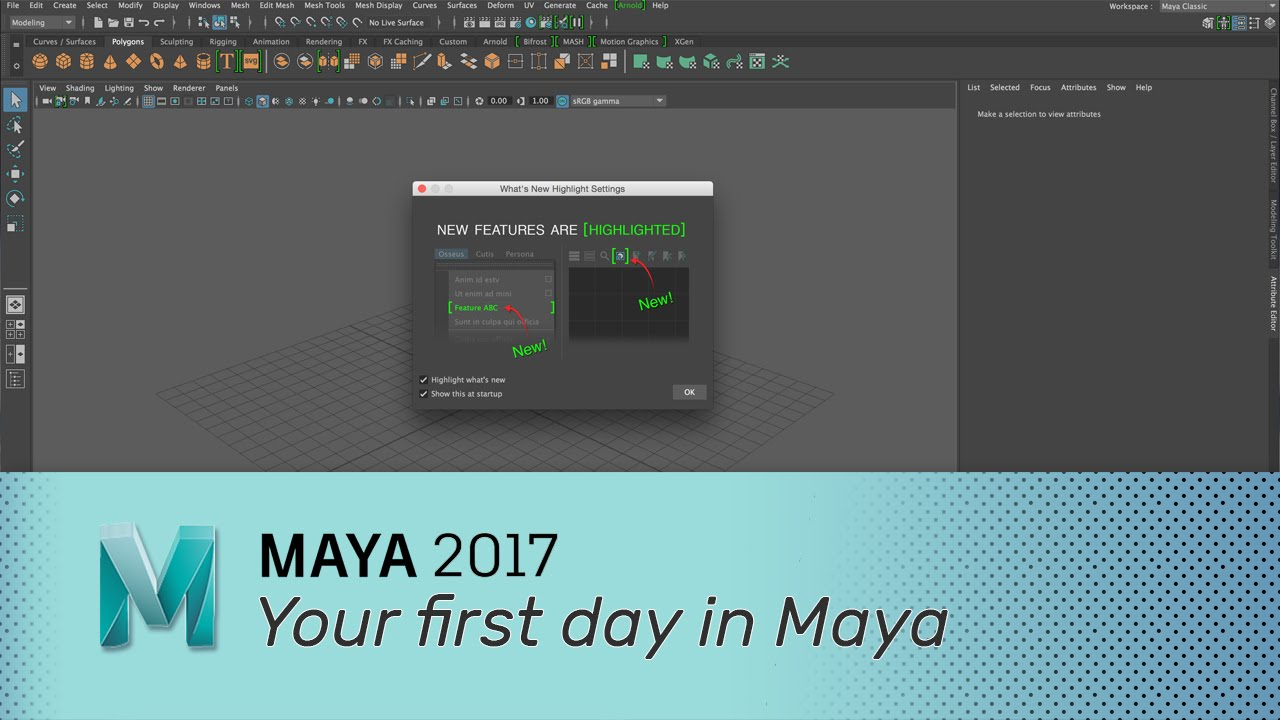 Maya 2017 - Your first day in Maya