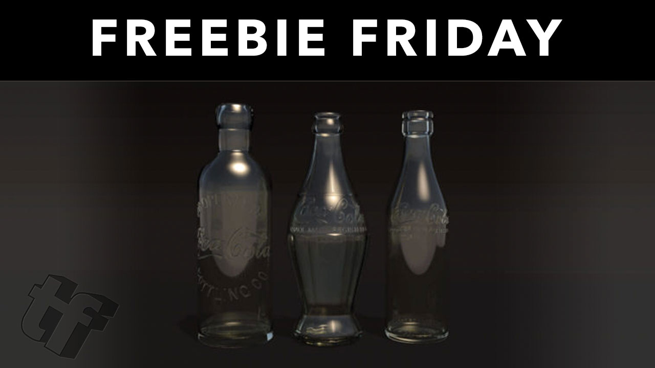 Antique Coke Bottle Cinema 4D 3D Model + C4D Octane Tutorial from The Pixel Lab