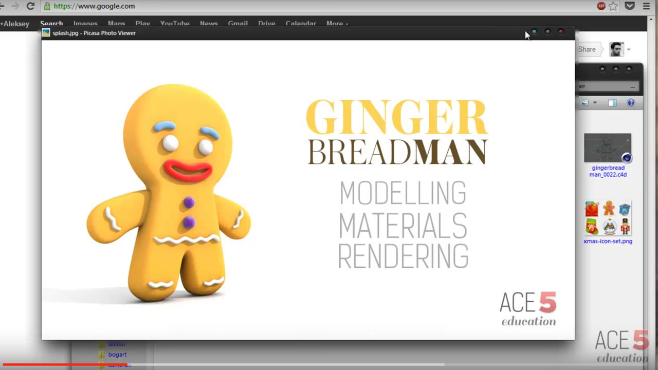 Modeling, Texturing & Rendering a Gingerbread Man in Cinema 4D