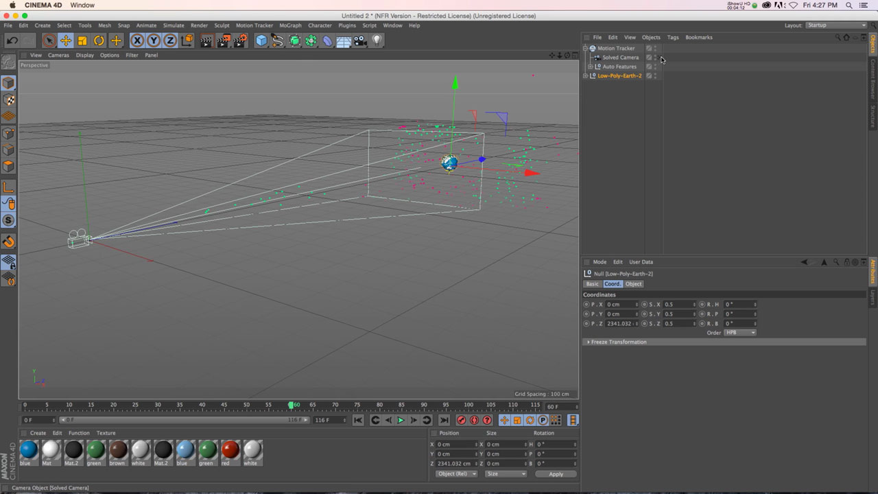 C4D Motion Tracker to Create Handheld Camera Moves