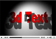 3D After Effects Text