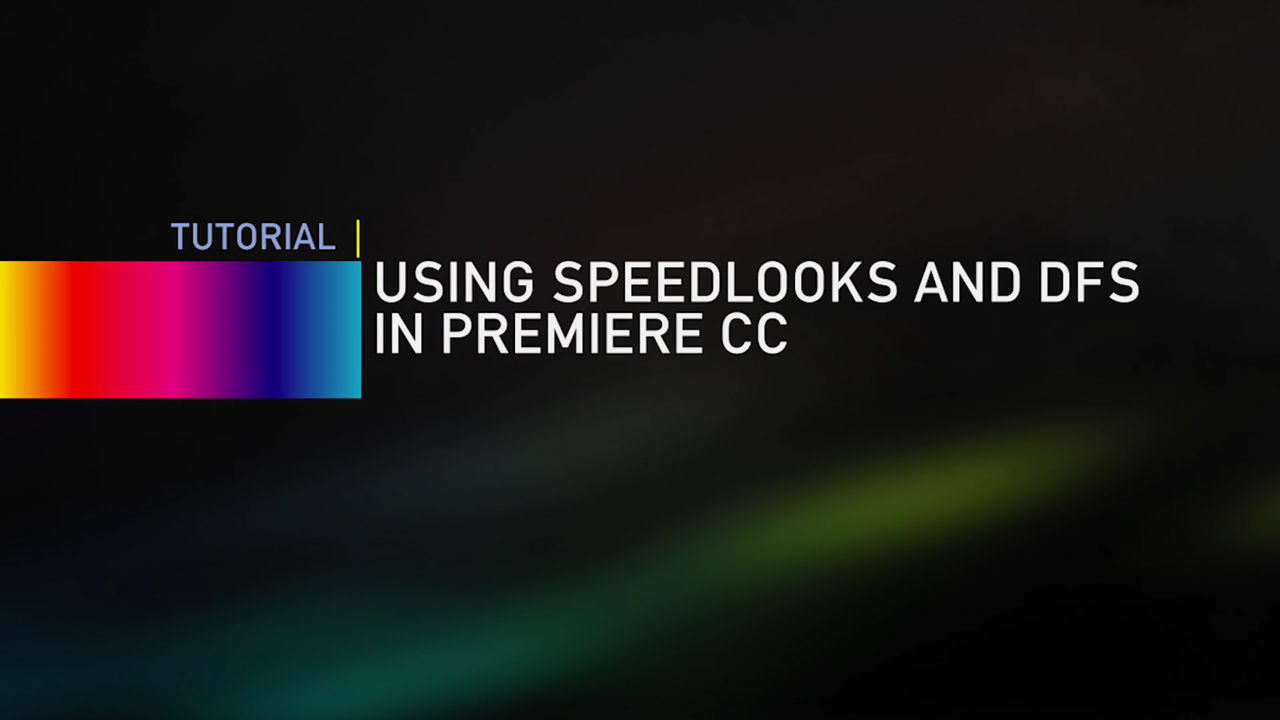 LookLabs: Using SpeedLooks and DFS in Premiere CC #looklabs