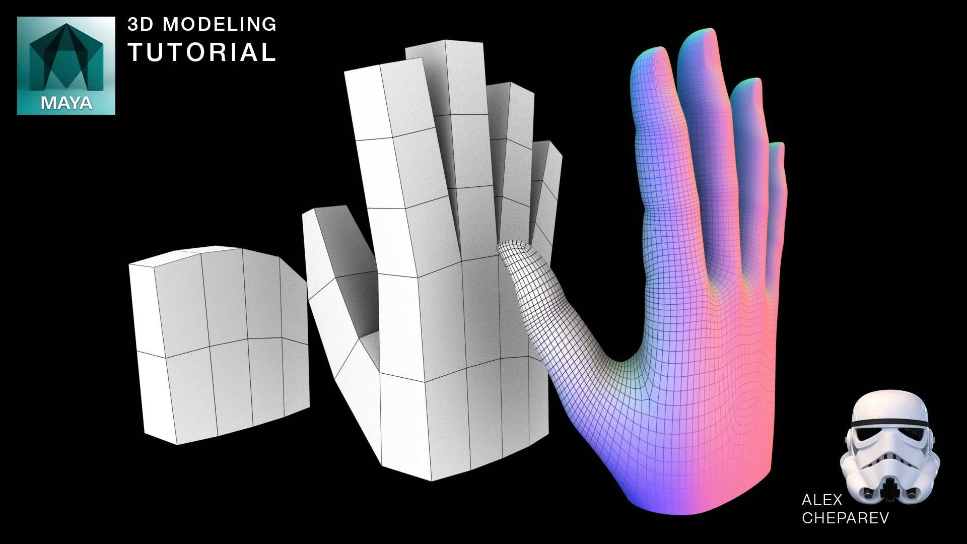 Easy Hand Modeling Tutorial in Maya