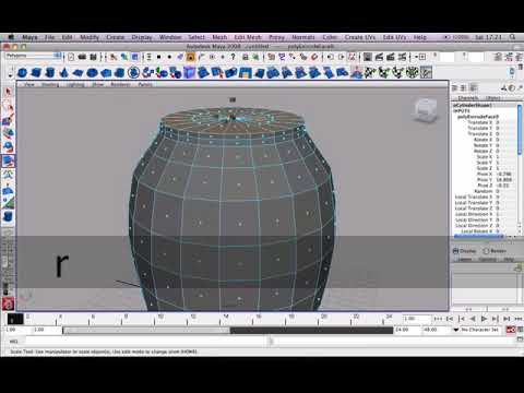 Polygon Modeling a Vase in Maya