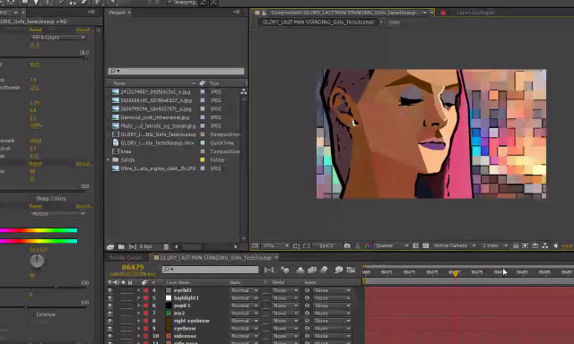 Animated Cartoon Roto Shapes with mocha and After Effects