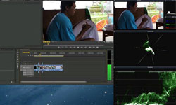Directly monitor your editing or compositing application using ScopeBox