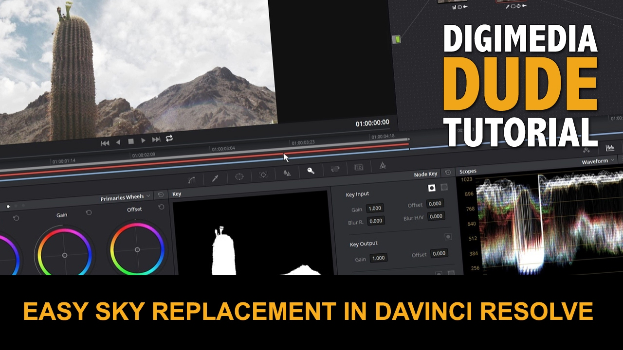 Easy Sky Replacement In DaVinci Resolve