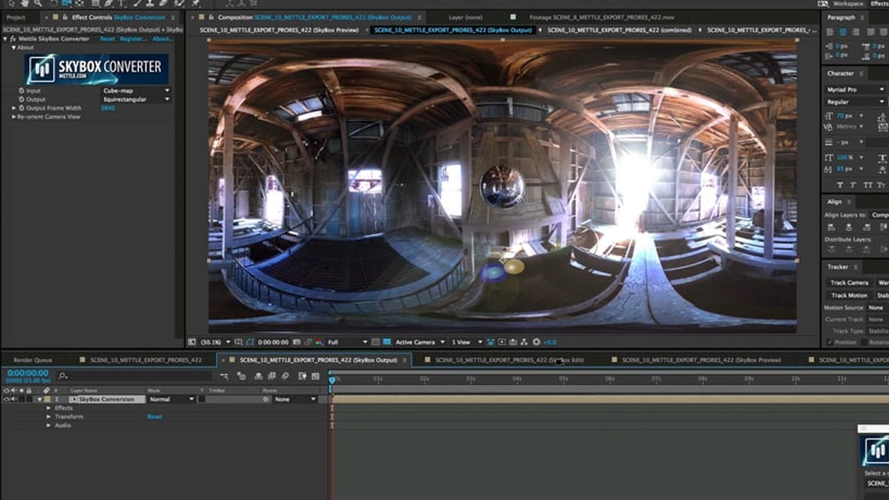 How to Add Effects onto 360/VR Footage