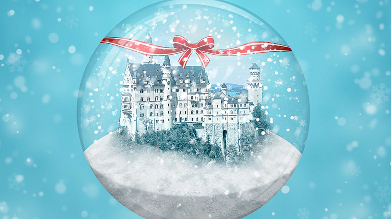 Photoshop - Create a Winter Snow Globe