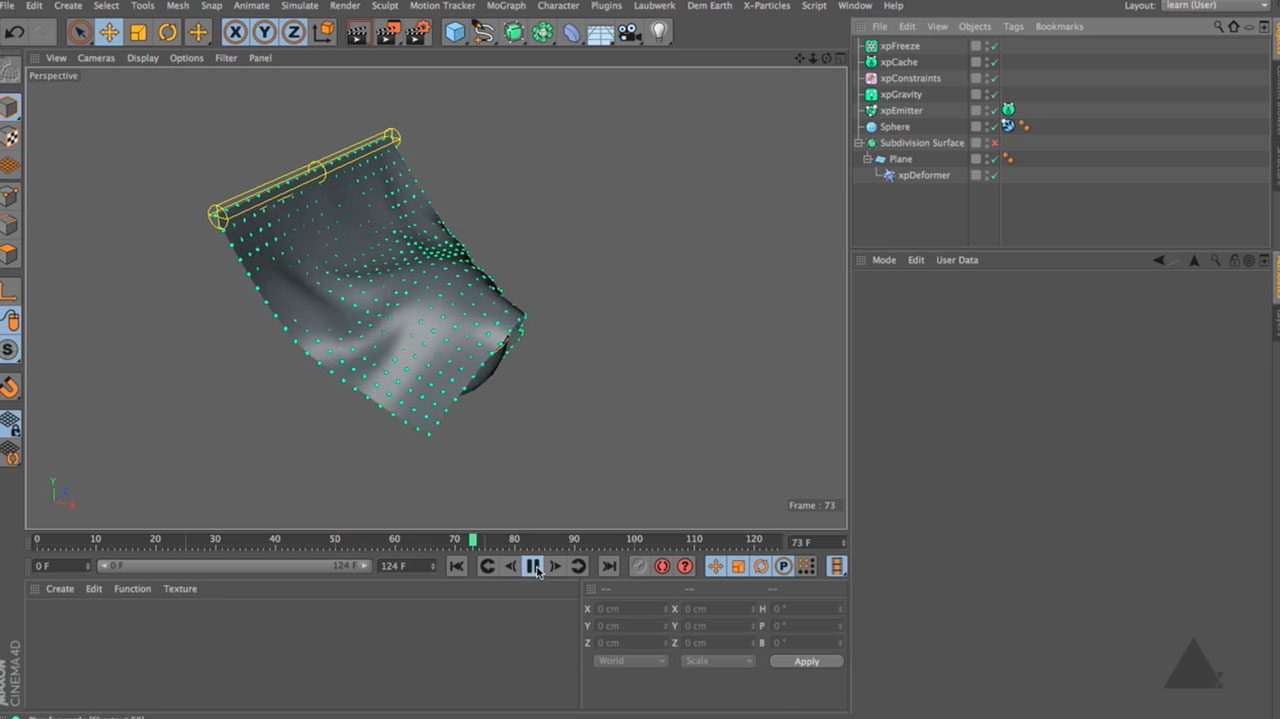 Soft Bodies with X-Particles in Cinema 4D
