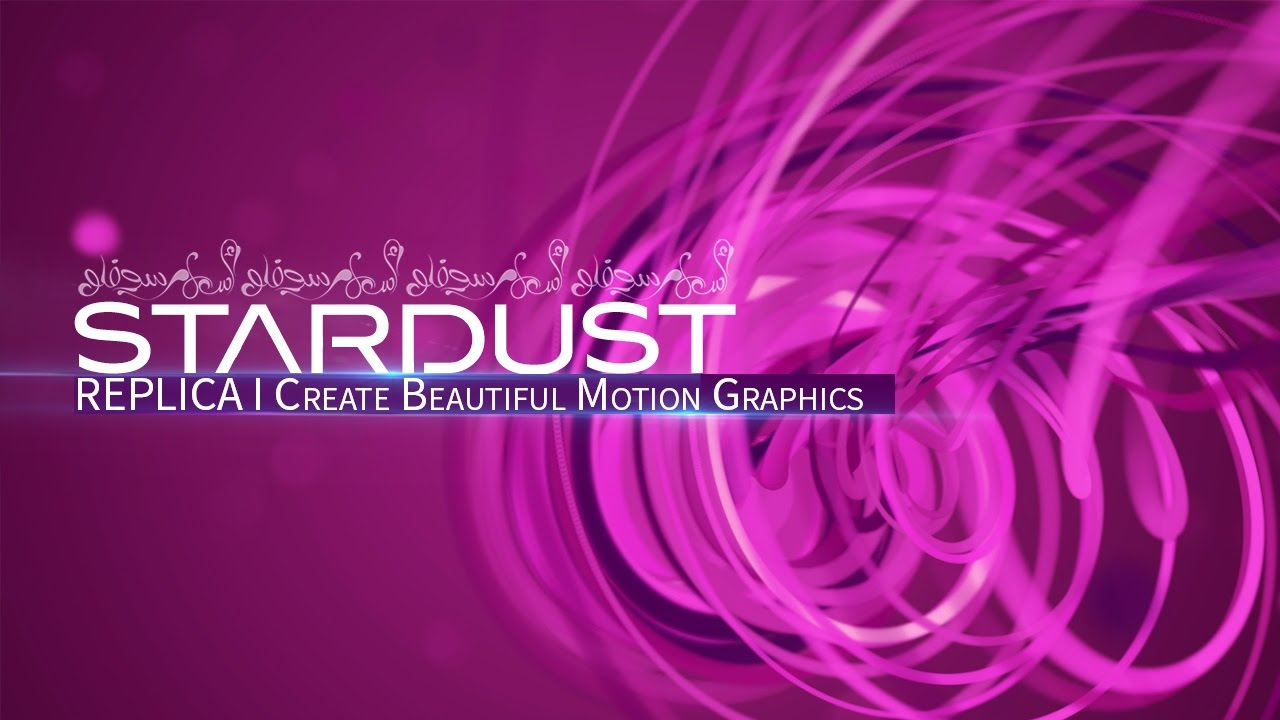 Superluminal Stardust Replica Motion Graphics Elements